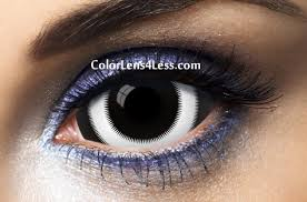 white ring sclera contact lens pair 007 98 00 colored