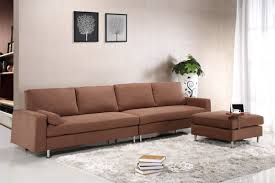 Sectional Sofa Bed With Storage Modern Brown Fabric Sectional Sofa W Ottoman