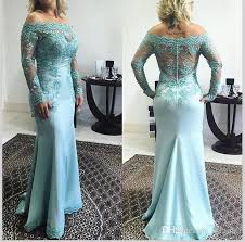 of the gowns 2017 plus size blue lace of the dresses shoulder
