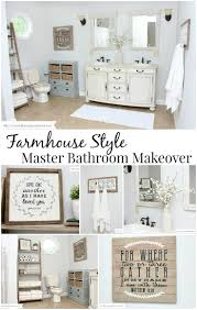 farmhouse style bathroom vanity bathroom decoration