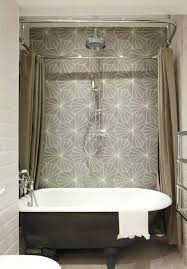 42 Inch Shower Curtain Ceiling Track Shower Curtain Mounted Accessories Rods Regarding L