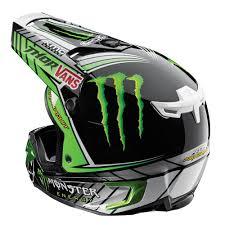 youth monster energy motocross gear thor 2015 verge pro circuit monster replica black green helmet