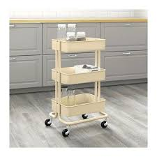 ikea raskog trolley raskog ikea home kitchen bedroom storage steel utility cart beige
