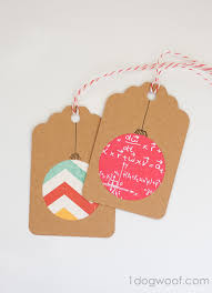gift tags day 2 scrapbook paper ornaments
