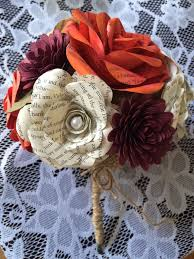 fall paper flower bouquet with burlap for wedding photos home