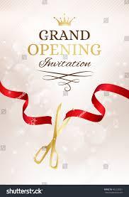 Inauguration Invitation Card Sample Grand Opening Invitation Card Cut Red Stock Vector 461232091