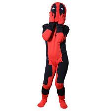 amazon com kids deadpool costume halloween cosplay unisex