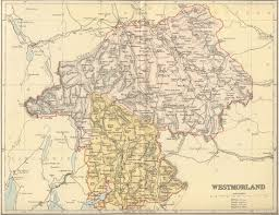 Cheshire England Map by Genuki Westmorland