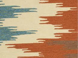 Orange And Blue Area Rug Floor Coverings Indoor Outdoor Tribal Pattern Polypropylene Orange