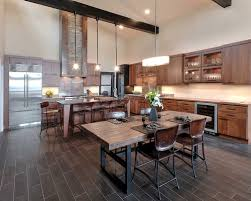 contemporary kitchen with pleasing rustic modern kitchen home