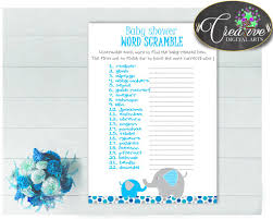 thanksgiving word scrambles aqua blue elephant word scramble baby shower game with elephant