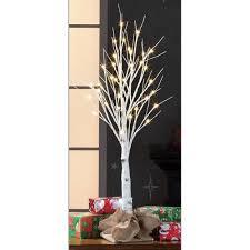 holiday time pre lit 3 u0027 white birch stick artificial christmas