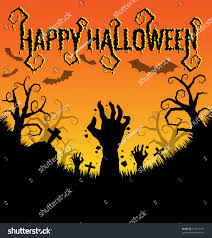 halloween background elegant halloween background zombies hand bat vector stock vector