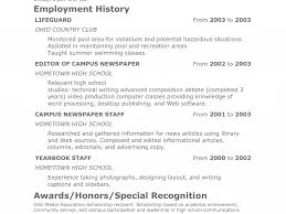 Teen Sample Resume by Teen Sample Resume