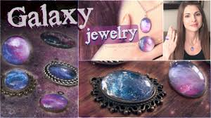 diy galaxy necklace u0026 ring pendants nail polish jewelry how to