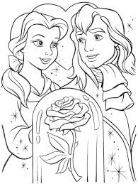 cartoon printable disney princess belle coloring pages