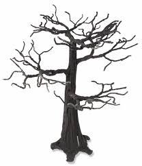 bethany lowe black spooky wire glittered halloween tree 16