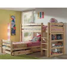 Vipack Pino Bunk Bed Corner Natural Jellybean Ireland - History of bunk beds