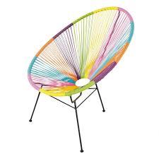 fauteuil de la maison fauteuil de jardin rond multicolore copacabana maisons du monde