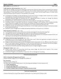 sample resume for logistic management specialist