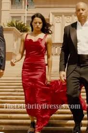fast and furious 8 in taiwan letty sexy red satin backless evening dress for sale in fast