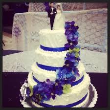 cake it or weave it blue dark purple wedding cake