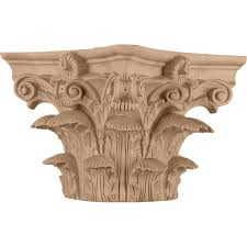corinthian wood capital for a 6