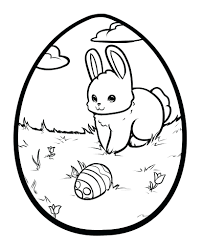 spring and easter printable coloring pages awesome bunny egg page