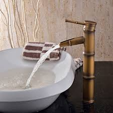Top Rated Bathroom Faucets by Best Bathroom Faucets With Antique Brass Finish Bamboo Shape