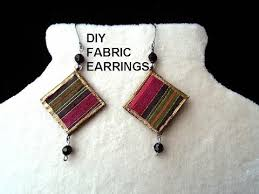 paper mache earrings diy fabric earrings paper jewelry