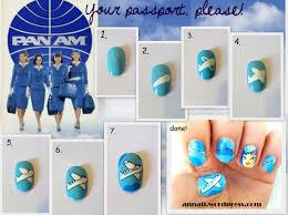 your passport please nail nailart tutorial nailtutorial