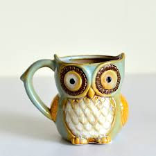 owl mug gift 3d animal owl mugs 300ml coffee mug ceramic