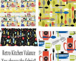 Kitchen Curtain Fabric by Curtains U0026 Window Treatments Etsy