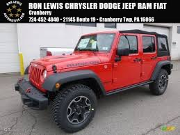 jeep red 2017 2017 firecracker red jeep wrangler unlimited rubicon hard rock 4x4