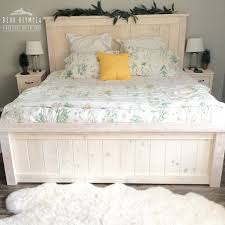 Staining Bedroom Furniture White Farmhouse Bed Stained White Wood Stained Bedroom