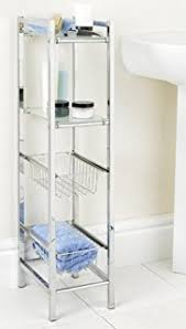 Bathroom Storage Chrome Sheldon 3 Tier Chrome Bathroom Storage Unit White Plastic Tray
