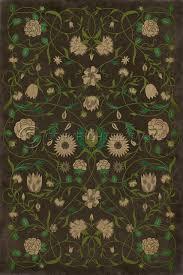 floral emma vinyl floor cloth floor cloth floral and kitchen