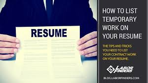 Resume Temporary Jobs by Resume How To List Temporary Jobs Need Some Advice Moving To Fort