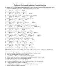 balancing chemical equations worksheet answer key chemfiesta