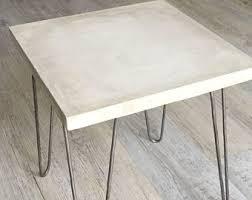 Concrete Side Table Concrete Side Table Etsy