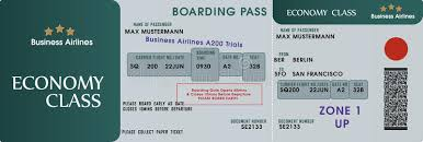 boarding pass template stock vector image of stub gate 15429796