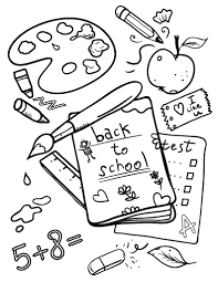 Coloring Page Of A School Free Back To School Coloring Page by Coloring Page Of A School