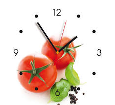 horloge murale d礬co contento tomates