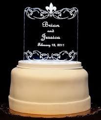 fleur de lis cake topper fleur de lis light up wedding cake topper wedding collectibles