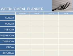 weekly meal planner template free printables word excel