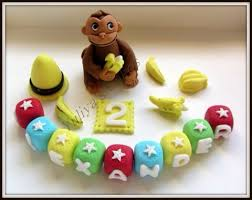 curious george cake topper edible curious george monkey cake topper baby birthday sugarpaste