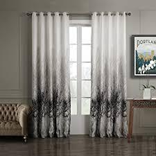 vorhänge wohnzimmer de gwell baumblatt druck vorhang blickdicht schal