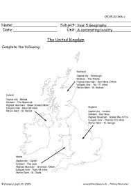 primaryleap co uk the united kingdom worksheet