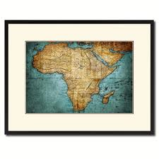 africa mapmaker vintage antique map wall art bedroom home decor