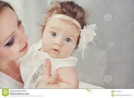 Cute Child by Mother Playing With Cute Baby Indoor Stock Images Image